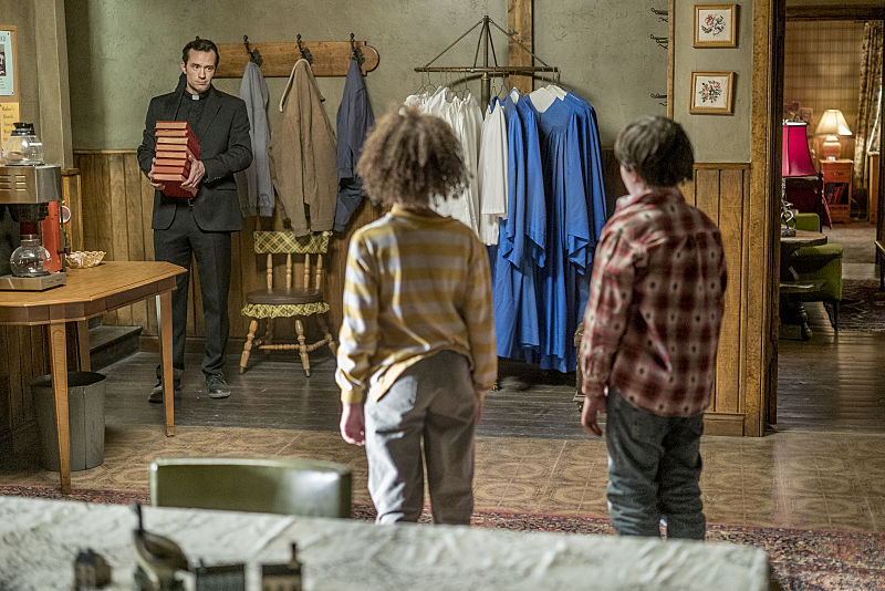 Nathan Darrow as John Custer, Dominic Ruggieri as Young Jesse, Ashley Aufderheide as Young Tulip - Preacher _ Season 1, Episode 6 - Photo Credit: Lewis Jacobs/Sony Pictures Television/AMC